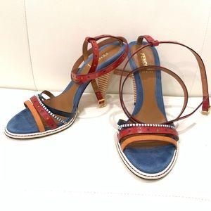 FENDI Multicolor Strappy Sandals Sz 40